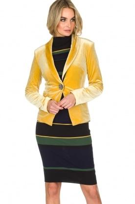 NIKKIE | Velvet blazer Lulana | geel