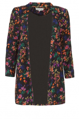 Les Favorites | Floral blazer cardigan Fancy | black