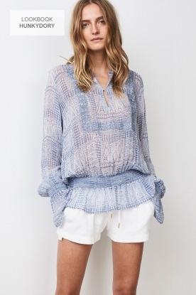 Hunkydory | Tuniek blouse Ruth | blauw