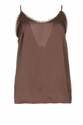 Les Favorites | Sleeveless top April | brown