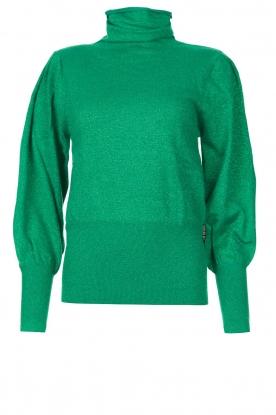 Silvian Heach |  Turtle neck with lurex Laredo | green