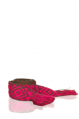 Les Favorites |  Printed belt Belle | pink