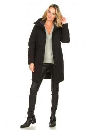 Look Luxurious parka coat Mercury