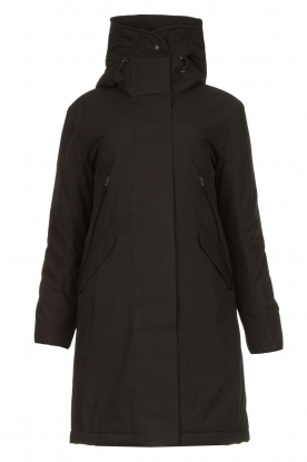 Krakatau | Luxurious parka coat Mercury | black