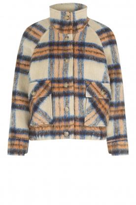 Second Female    Checkered jacket Gila   blue