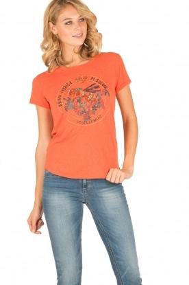 Leon & Harper | T-shirt Bee | oranje
