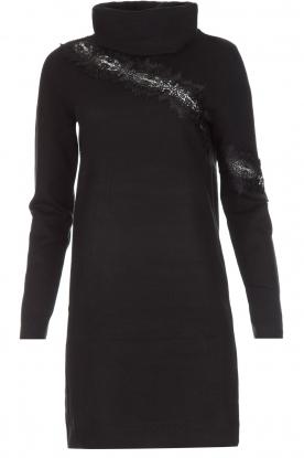 NIKKIE | Sweaterjurk Jacy Lace | Zwart