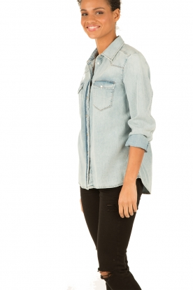 7 For All Mankind | Denim blouse New Western | blauw