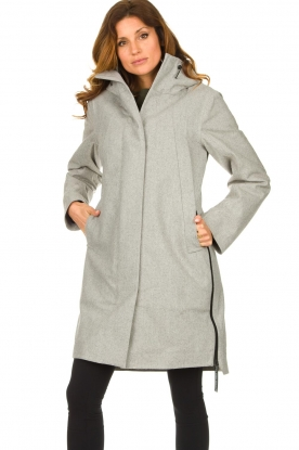 Krakatau |  Parka with detachable quilted Liner | grey