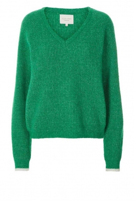 Lolly's Laundry | V-neck sweater Aliza | green