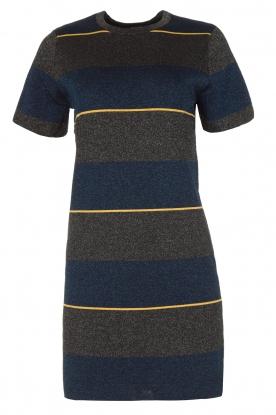 NIKKIE | Glinsterende jurk Jolien | donkerblauw