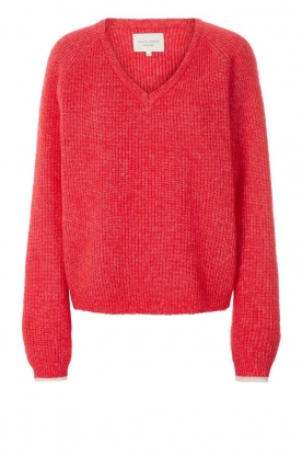Lolly's Laundry | V-neck sweater Aliza | red