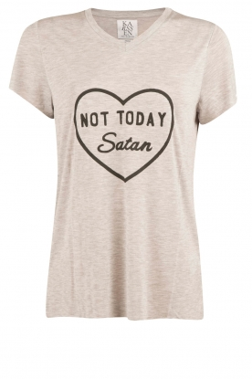 Zoe Karssen | T-shirt Not Today | grijs