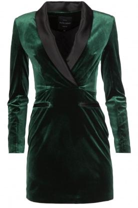 NIKKIE | Velvet blazer jurk Lola | donkergroen
