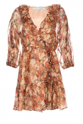 IRO |  Floral wrap dress Pacify | nude