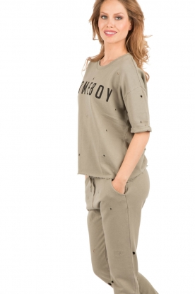 Zoe Karssen |  Boxfit sweatshirt Homeboy | army green