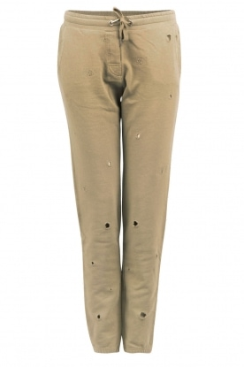 Sweatpants with worn-spots | army green