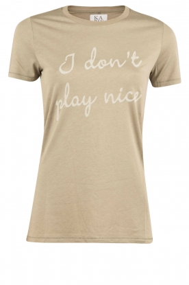 Zoe Karssen | T-Shirt I Dont Play Nice | legergroen