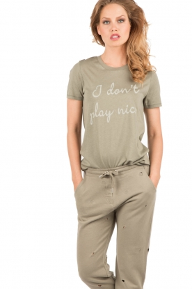 T-Shirt I Dont Play Nice | army green