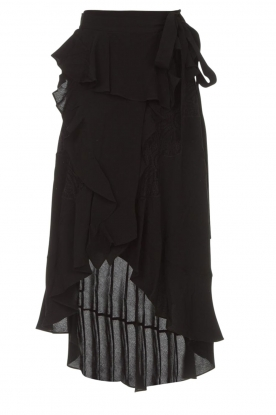 IRO |  Wrap skirt with ruffles Milou | black
