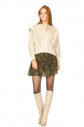Look Skirt with floral print Simone