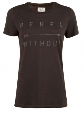 Zoe Karssen | T-shirt Rebel Without | zwart