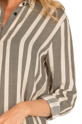 Dante 6 | Maxi blousejurk Yoko | zwart/wit