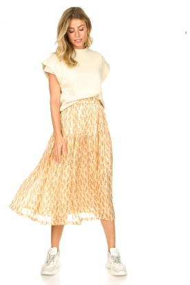 Lolly's Laundry |  Printed midi skirt Cokko | naturel
