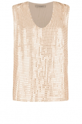 Hunkydory |  Sequin top Clayton | gold