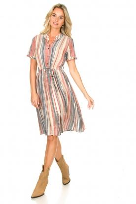 Look Gestreepte jurk Sandra