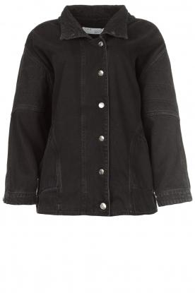 IRO |  Oversized denim jacket Cauron | black