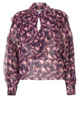 IRO |  See-through blouse with lurex Tchami | purple