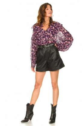 Look See-through blouse with lurex Tchami