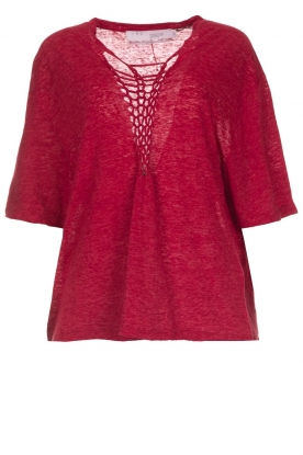 IRO |  Top with braided detail Kind | red