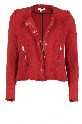 IRO |  Bouclé jacket Agnette | red