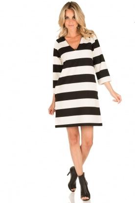 DAY Birger et Mikkelsen | V-hals jurk Clear | zwart/wit