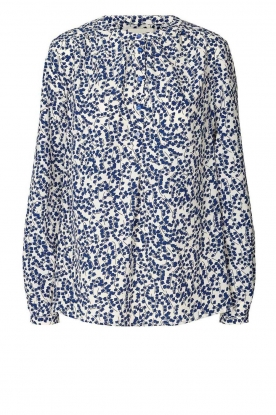 Lolly's Laundry | Print blouse Singh | blue