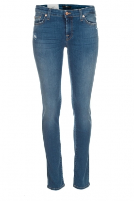 7 For All Mankind | Slim illusion skinny jeans Pyper | lichtblauw