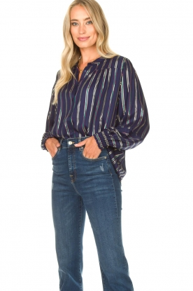 Lolly's Laundry |  Striped blouse Sadie | blue