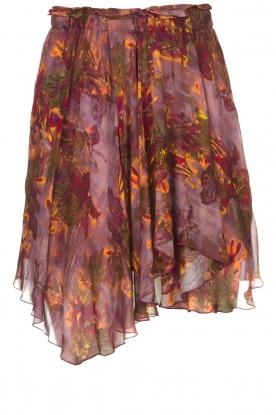 IRO |  Skirt with print Guetta | burgundy