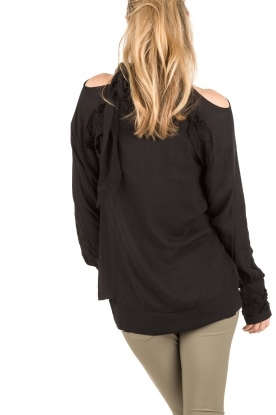 IRO | Cut-out blouse Frejan | zwart