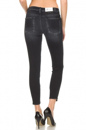 7 For All Mankind | Copped jeans The Skinny | zwart