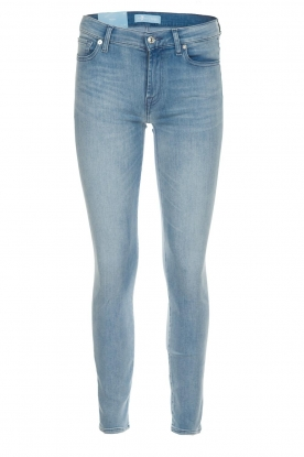 7 For All Mankind | Cropped skinny jeans Bair | blauw