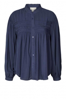 Lolly's Laundry | Decorated blouse Cara | blue