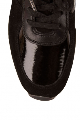 Leather sneakers Allie Wrap | black