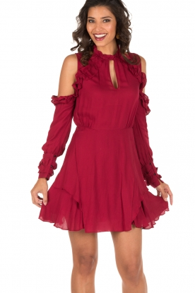 IRO | Cut-out jurk Hanie | rood