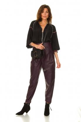 Look Leather baggy pants Bisho