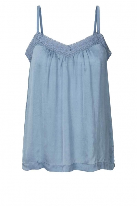 Lolly's Laundry | Sleeveless top with lace details Hanzo | blue