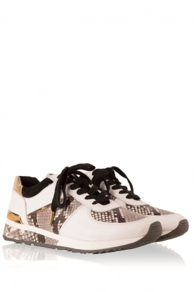 MICHAEL Michael Kors | Leren sneakers Trainer Allie Wrap | wit met dierenprint