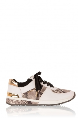 MICHAEL Michael Kors |  Leather sneakers Trainer Allie Wrap | white with animal print